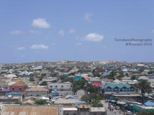 Rooftop view of Kismayu